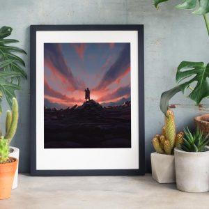 Angel - Photo of framed illustration print for biblical book of Tobit by Jakub Cichecki