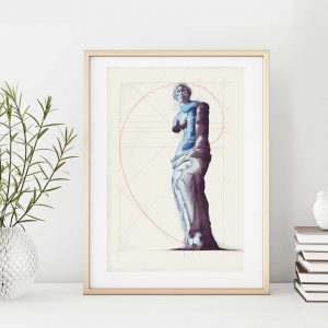 Beauty of football small illustration print in frame by Jakub Cichecki