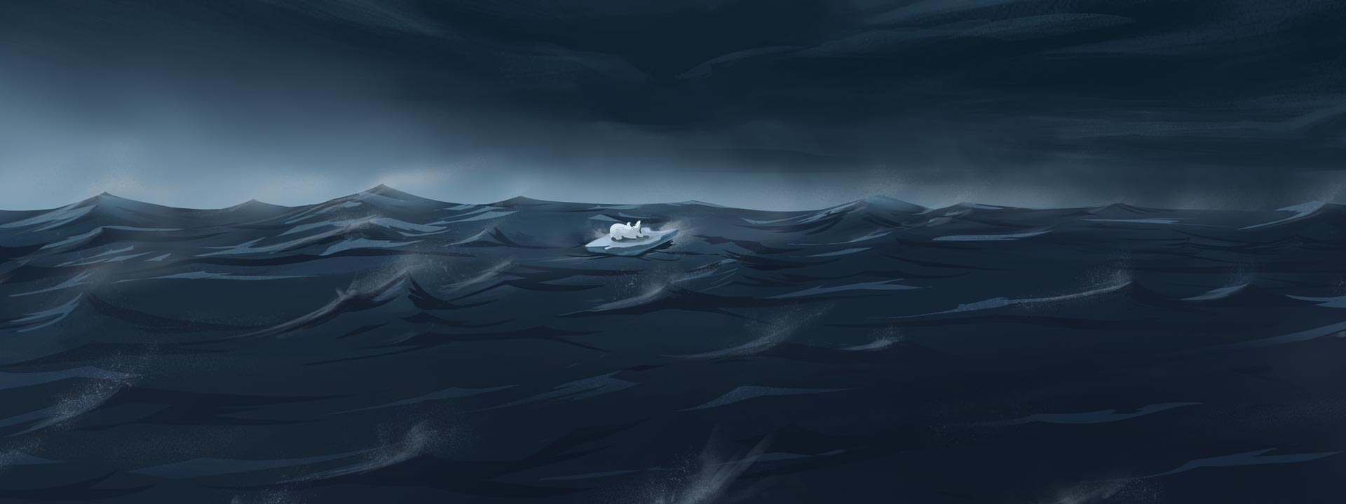 Calm before the storm background illustration for Pigeon Studio by Jakub Cichecki