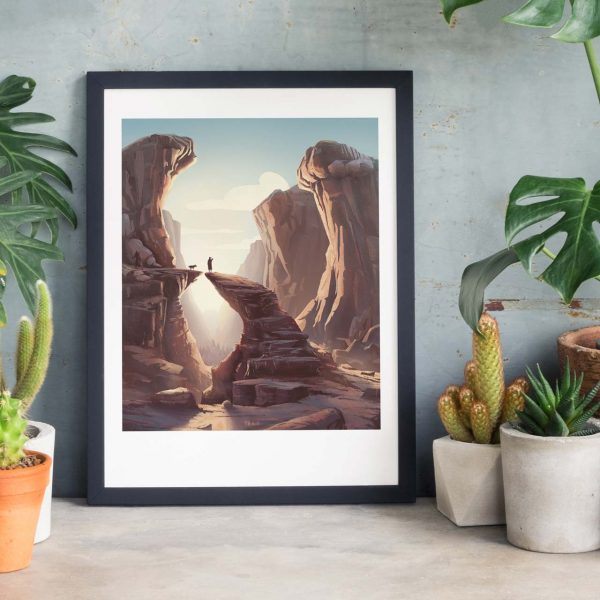 Canyon landscape - Photo of framed illustration print for biblical book of Tobit by Jakub Cichecki