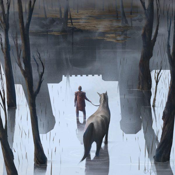Ghost castle illustration 2 by Jakub Cichecki