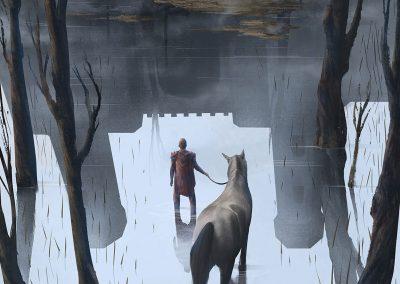 Ghost castle illustration by Jakub Cichecki