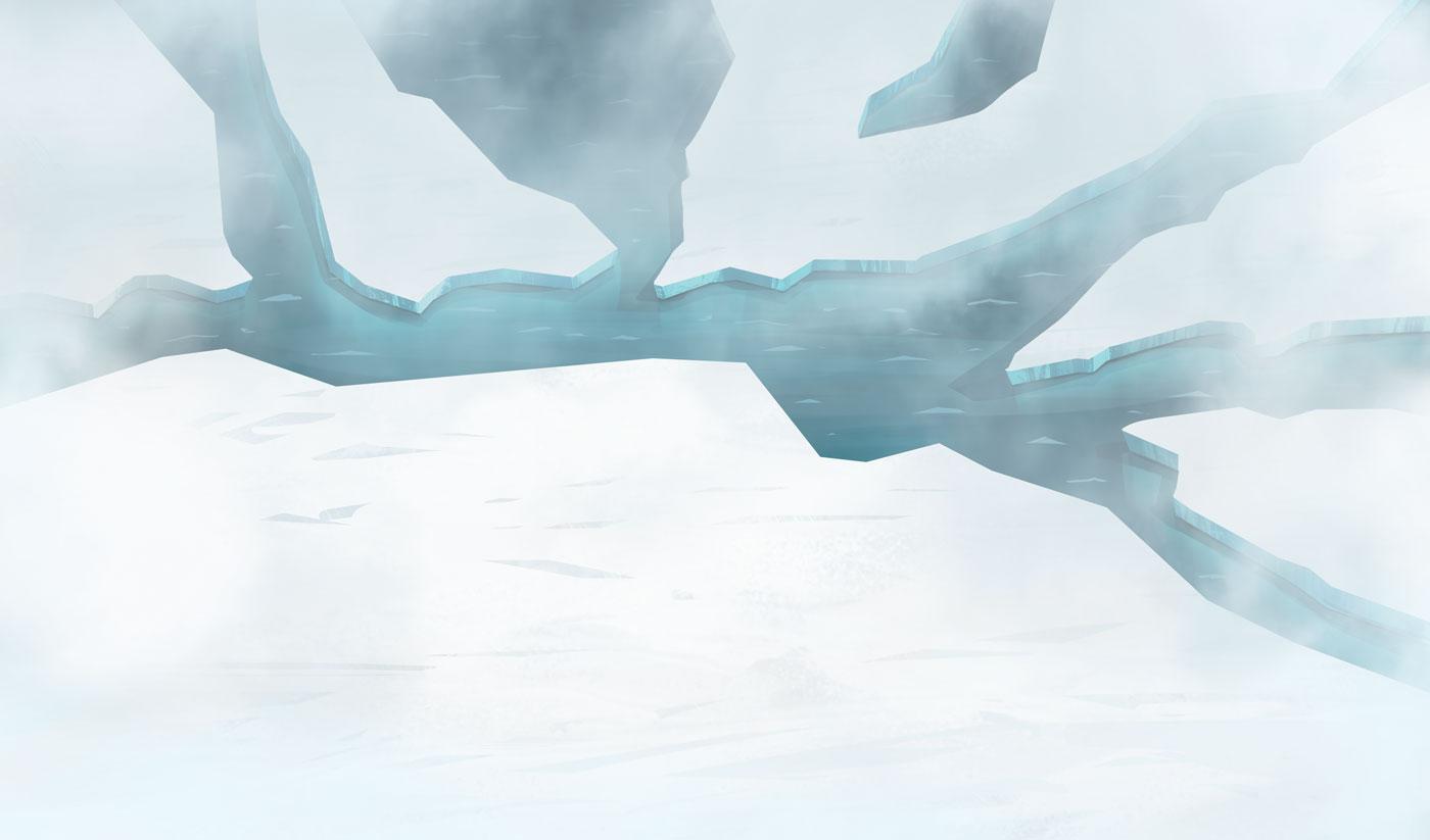 Ice floe background illustration for Pigeon Studio by Jakub Cichecki