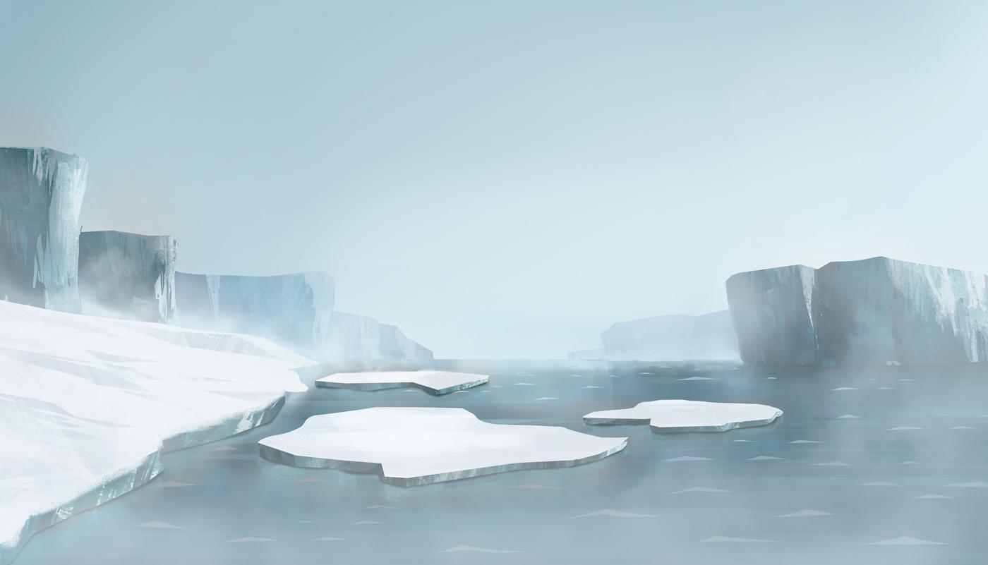 Ice floe illustration 2 for Pigeon Studio by Jakub Cichecki