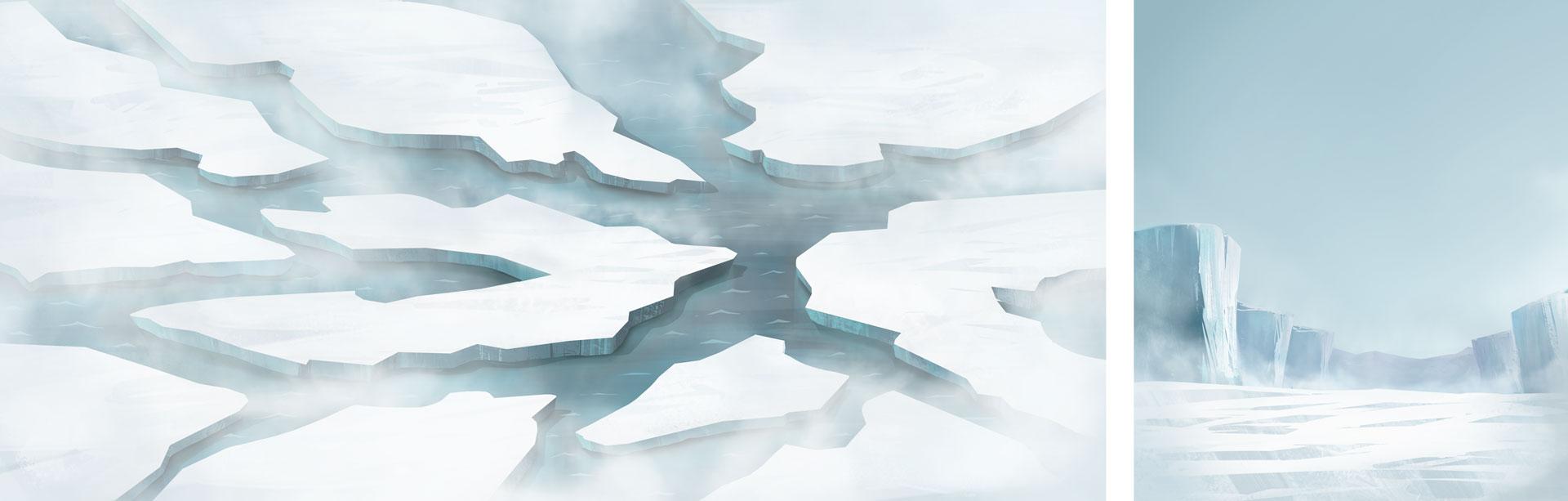 Ice floe north pole illustration for Pigeon Studio by Jakub Cichecki