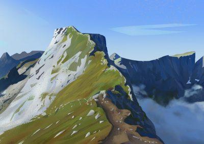 Lofoten landscape illustration by Jakub Cichecki