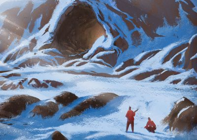 Looking for spring illustration by Jakub Cichecki