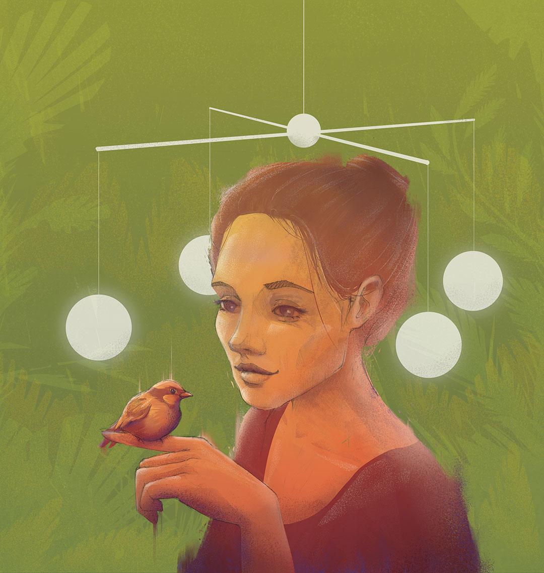 Illustration about mindfulness for Miesięcznik Znak by Jakub Cichecki