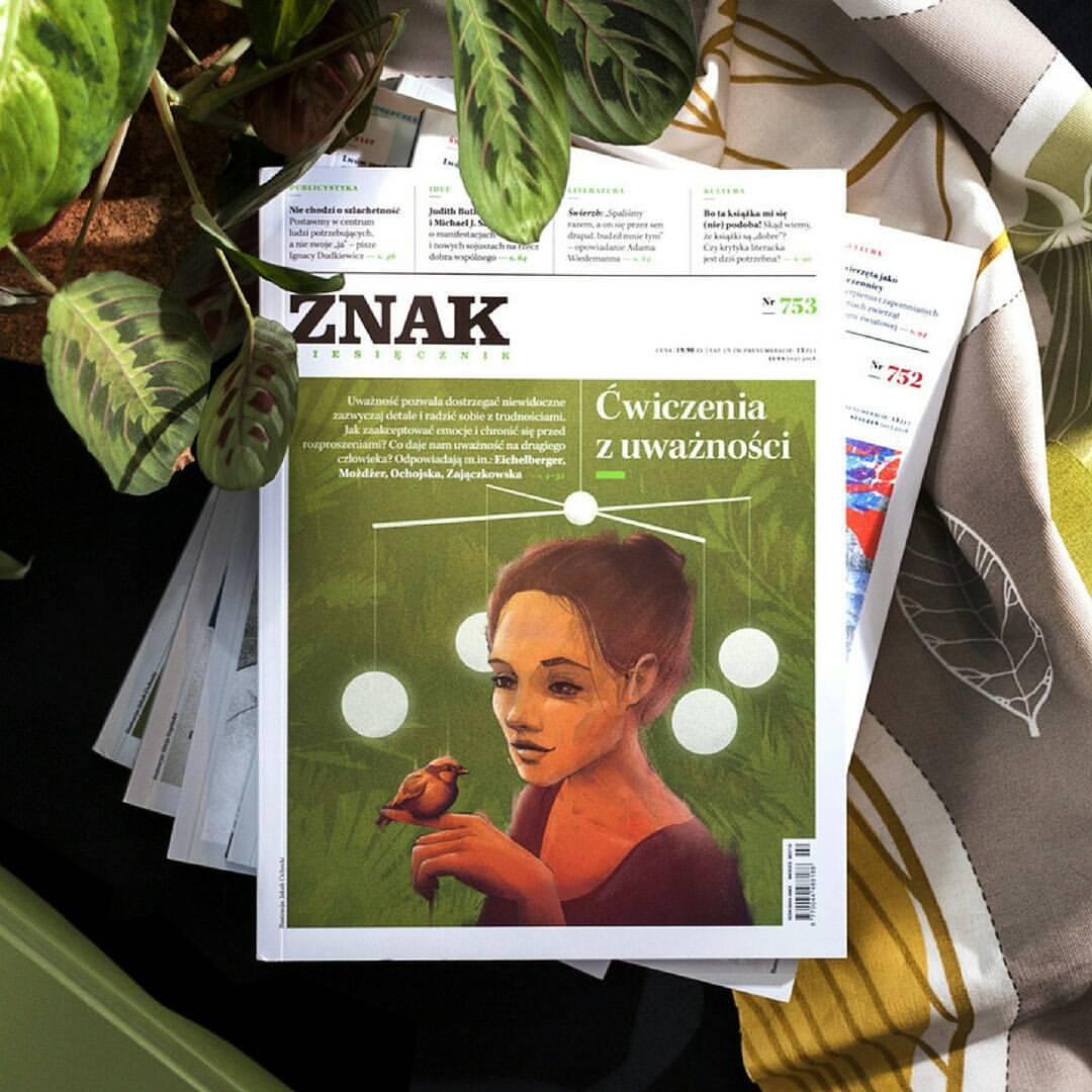 Mindfulness editorial illustration magazine photo for Miesięcznik Znak photo by Jakub Cichecki
