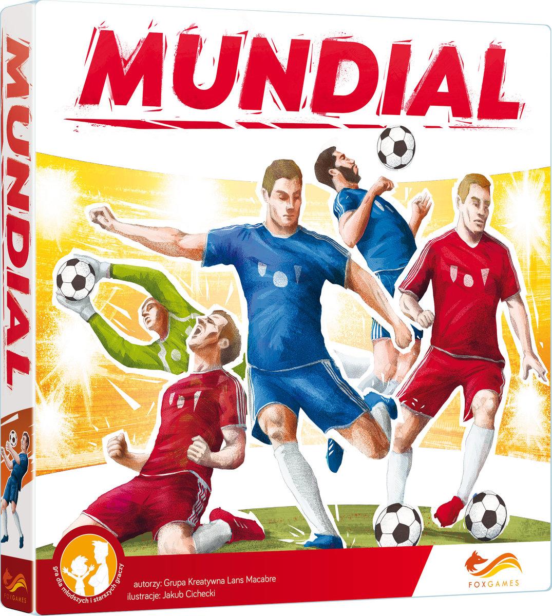 """Mundial"" - football arcade board game box photo illustrated by Jakub Cichecki"