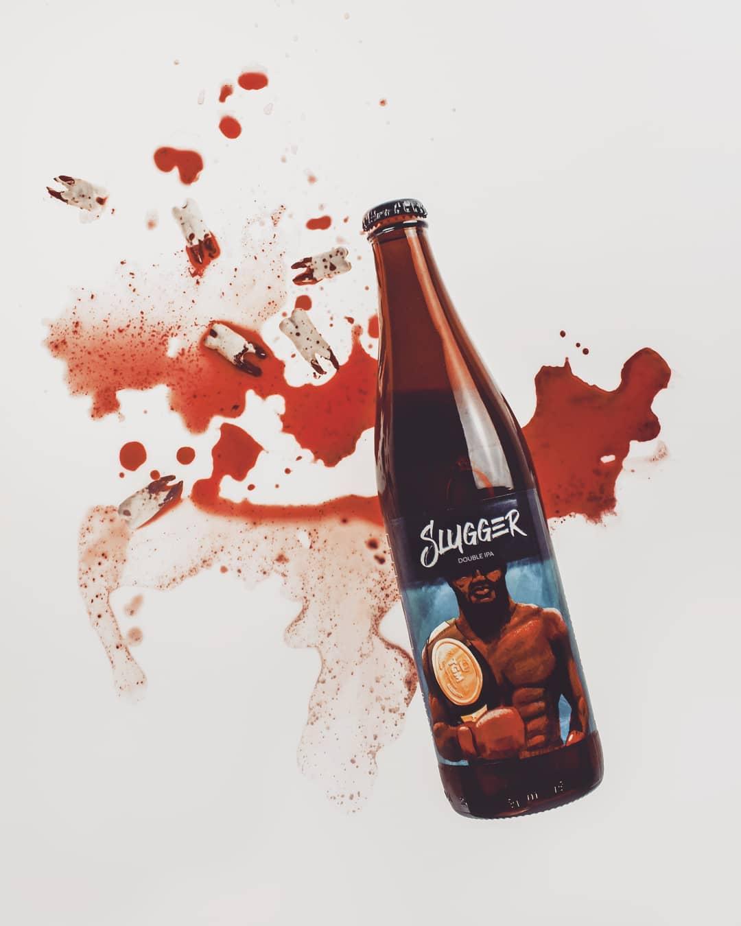 Slugger - The Garage Monks beer label illustration by Jakub Cichecki