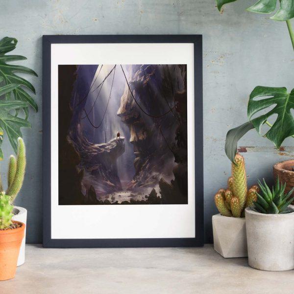 Statues of destiny Photo of framed illustration print by Jakub Cichecki