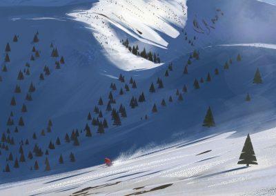 Tatry illustration by Jakub Cichecki