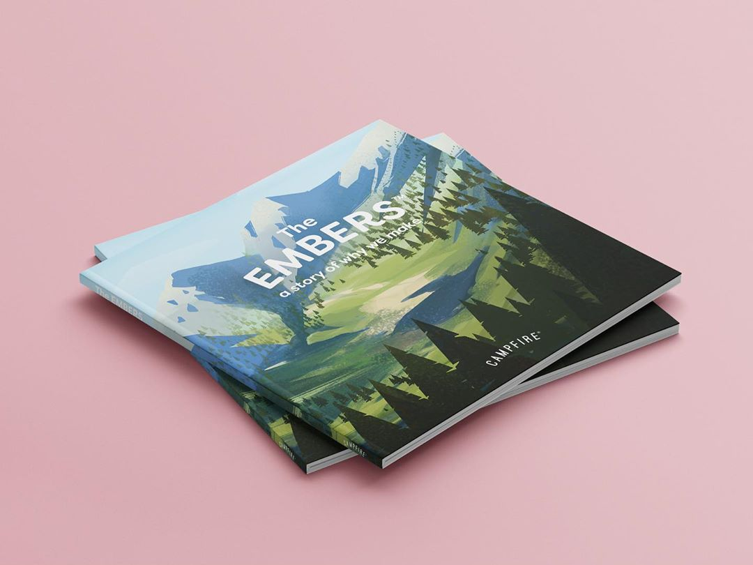 The Embers book cover - illustration for Campfire Agency by Jakub Cichecki