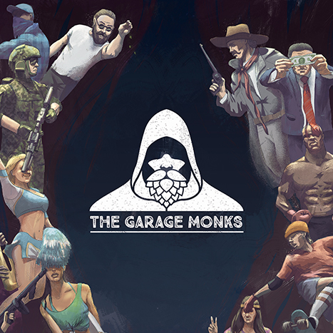The Garage Monks Brewery visual identity