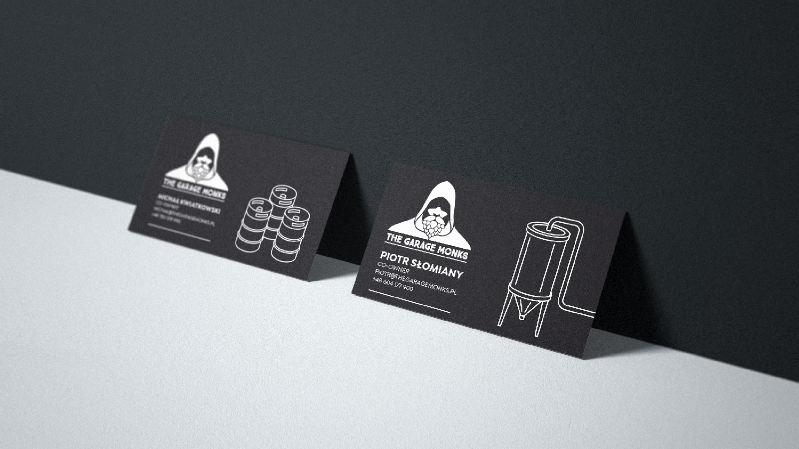 The Garage Monks business cards by Jakub Cichecki