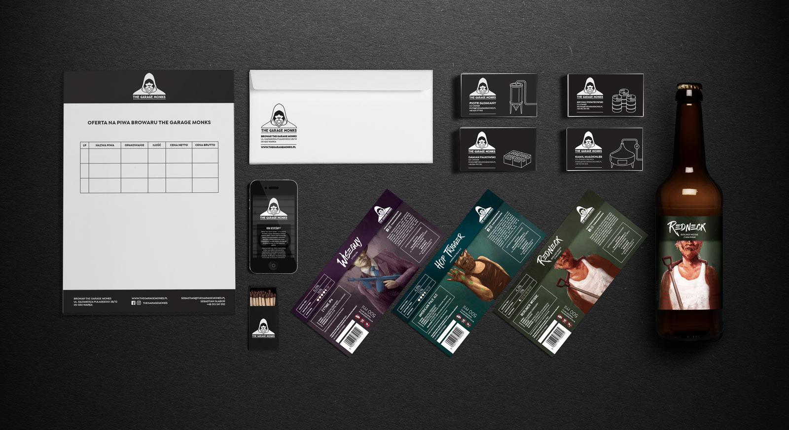 The Garage Monks visual identity branding by Jakub Cichecki