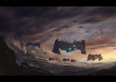 Virtual Reality practice sketch science fiction planes by Jakub Cichecki