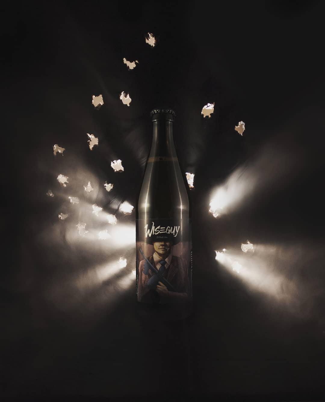 Wiseguy - The Garage Monks beer label illustration photo by Kraftowe and Jakub Cichecki